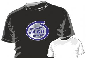 GRUMPY OLD GIT INSIDE Funny Novelty Design for mens or ladyfit t-shirt